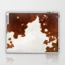 brown cowhide watercolor Laptop & iPad Skin