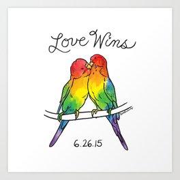 #LoveWins Birds Art Print