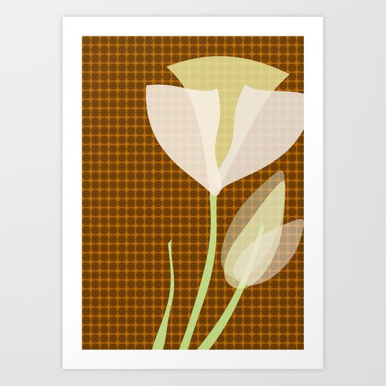 Modern Poppy Flower Art Print