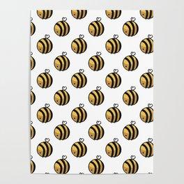 Bee Polka Dot Poster