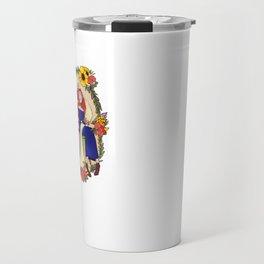 Flowers in her hair Travel Mug