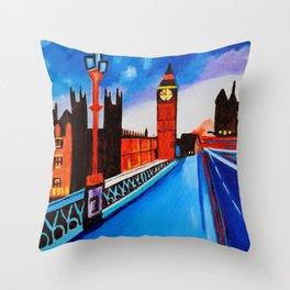 London At Night Throw Pillow