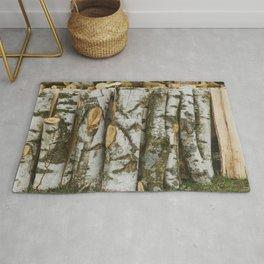 Birch wood - natural pattern Rug