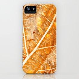 Burning Bokeh Leaf iPhone Case