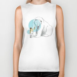 Polar bear and Girl Biker Tank