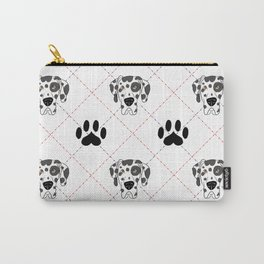 Harlequin Great Dane Paw Print Pattern Carry-All Pouch