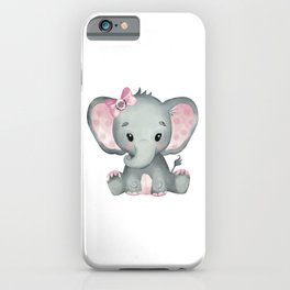 Cute Baby Elephant iPhone Case