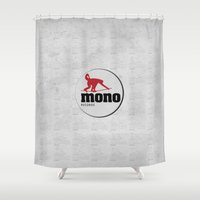 records Shower Curtains featuring MONO RECORDS by monorecordslabel