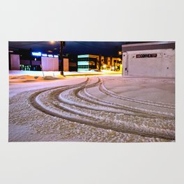 Tracks in the Snow Rug