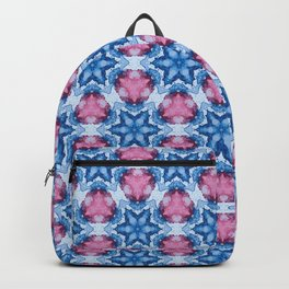 Abstract colorful kaleidoscope seamless pattern. Backpack
