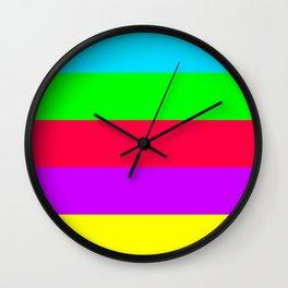 Neon Mix #2 Wall Clock