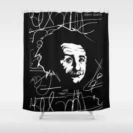 Albert Einstein Tribute Illustration Shower Curtain
