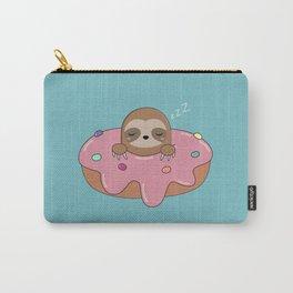 Kawaii Cute Donut Sloth Carry-All Pouch