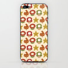 mario items pattern iPhone & iPod Skin