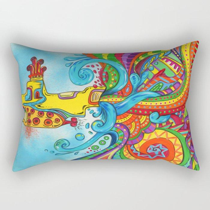 The Yellow Submarine Rectangular Pillow