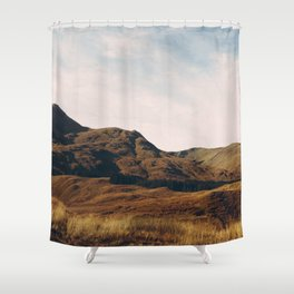 scottish hillside Shower Curtain