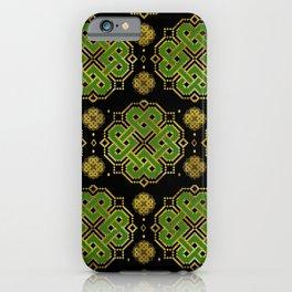 Celtic Endless Knot - Shamrock Four-leaf Clover iPhone Case