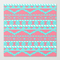 aztec Canvas Prints featuring AZTEC by Acus