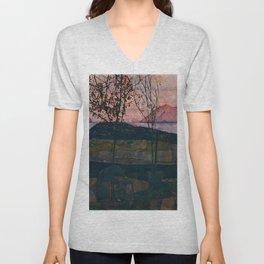 "Egon Schiele ""Setting Sun"" Unisex V-Neck"