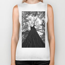 Forest black and white 17 Biker Tank