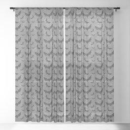 Swirly Bat Swarm Sheer Curtain