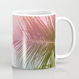 Pink Palm Leaf Poster Coffee Mug