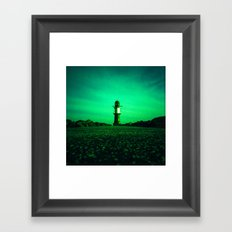 GREEN LIGHTHOUSE Framed Art Print
