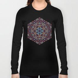 Brown and blue geometric Mandala Rich ornament Long Sleeve T-shirt