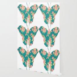 Butterfly Floral Pattern Wallpaper