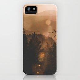 Yosemite sunset iPhone Case