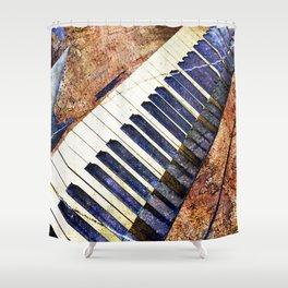 Piano keys art Shower Curtain