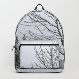Lone Snow Covered Tree Backpack