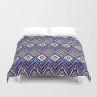 ikat Duvet Covers featuring IKAT by Isabella Salamone