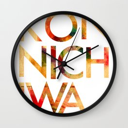 Konnichiwa! Wall Clock
