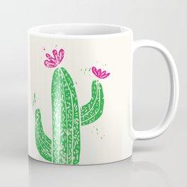 Linocut Cactus #2 Coffee Mug