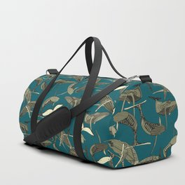just whales blue Duffle Bag