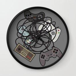 Tangled Joysticks Wall Clock