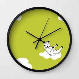 Flying Bear by McKenna Sanderson Wall Clock