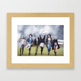 Who runs the world? GIRLS!  Framed Art Print