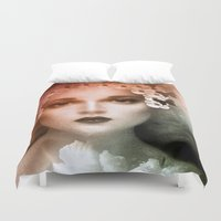 bride Duvet Covers featuring Vintage Bride by Saundra Myles