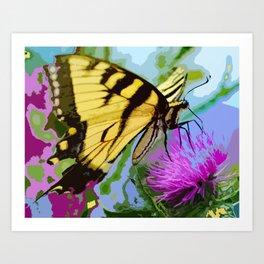 Yellow butterfly beauty 2 Art Print