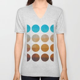 Tropical with circles Unisex V-Neck