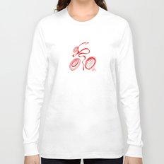 Bicycle - Red Ribbon Rider Long Sleeve T-shirt