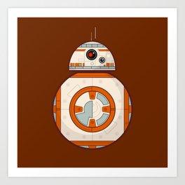 BB8 Droid Brown Art Print