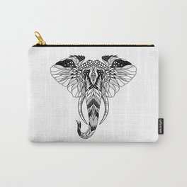 ELEPHANT head. psychedelic / zentangle style Carry-All Pouch