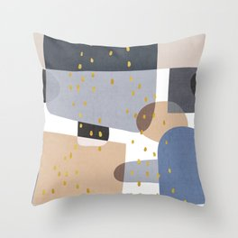 Conglomeration in Blue Throw Pillow