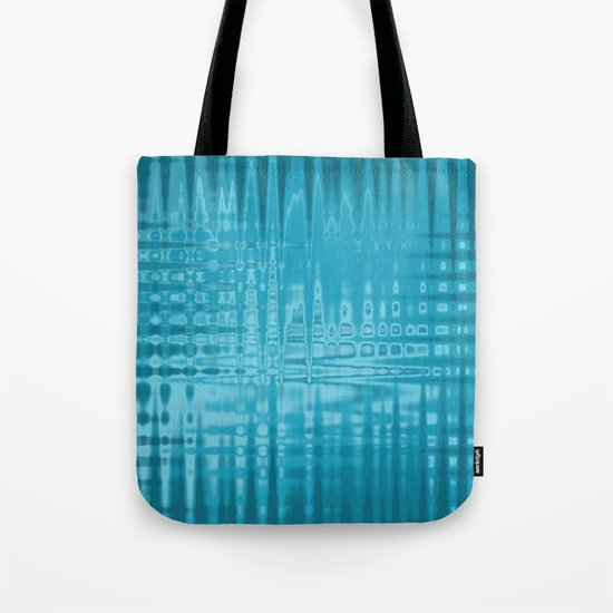 ABSTRACT MADNESS IN BLUE Tote Bag