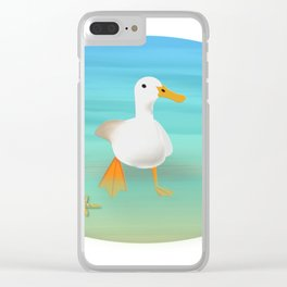 The Paddling Duck at the Se Clear iPhone Case