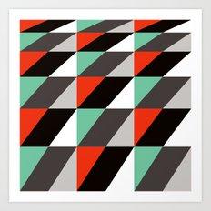 Falling squares Art Print