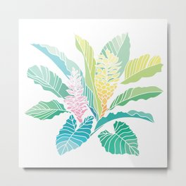 tropical ginger ombre pastel Metal Print